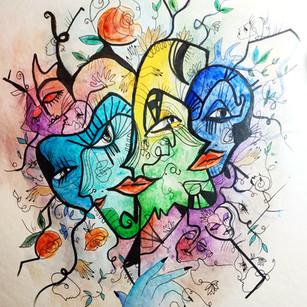 Masque coloré IV