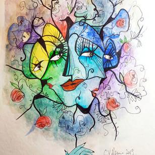 Masque coloré II