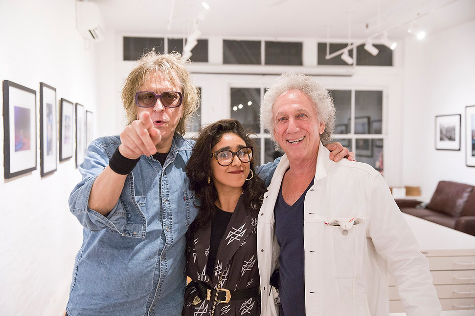 Mick Rock, Leyd Luz & Bob Gruen en NYC / Morrisson Hotel Gallery