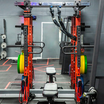 Squat rack with jammer arms