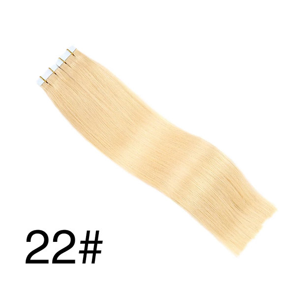 Tape-in Pure Full Cuticle European Remy Hair Extensions #22