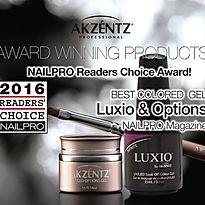 Luxio and Akzentz gels