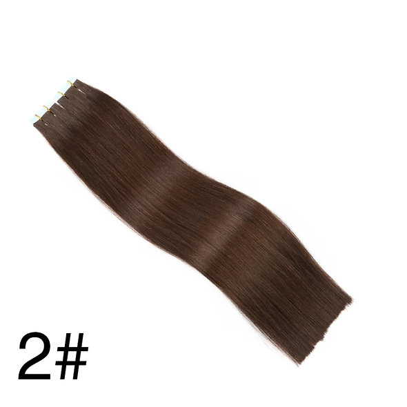 Tape-in Pure Full Cuticle European Remy Hair Extensions #2