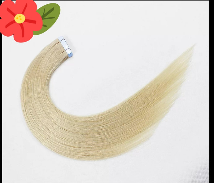 Tape-in Pure Full Cuticle European Remy Hair Extensions #60