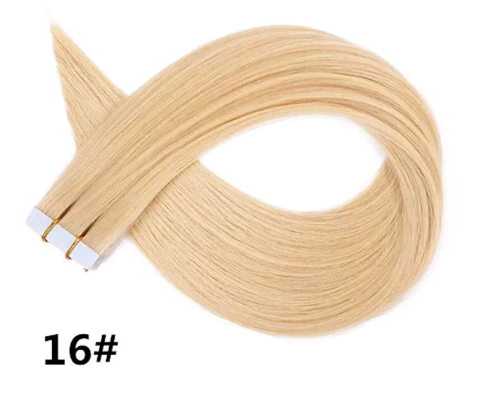 Tape-in Pure Full Cuticle European Remy Hair Extensions #16