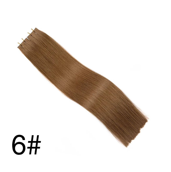 Tape-in Pure Full Cuticle European Remy Hair Extensions #6