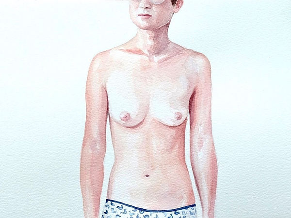 Kate Arthur - Body Portrait (Roxy), watercolour