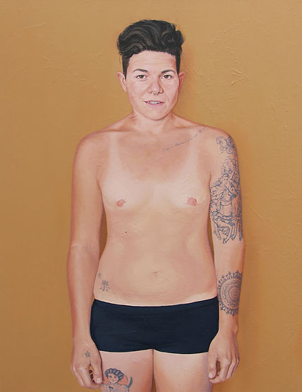 Kate Arthur - B (Body Portrait), oil on canvas