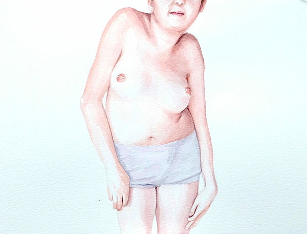 Kate Arthur - Body Portrait (Gaby), watercolour