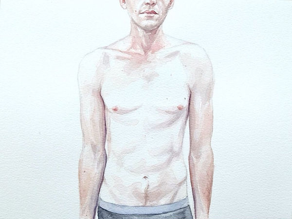 Kate Arthur - Body Portrait (Kyle), watercolour