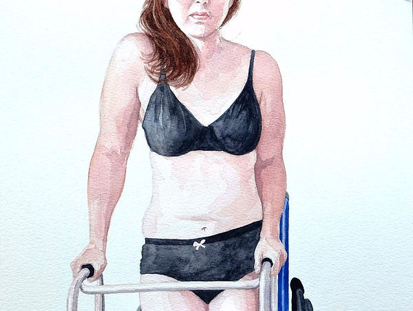 Kate Arthur - Body Portrait (Genna), watercolour
