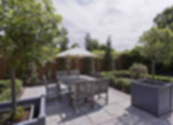 Terrasse minérale Jardins d'Auge