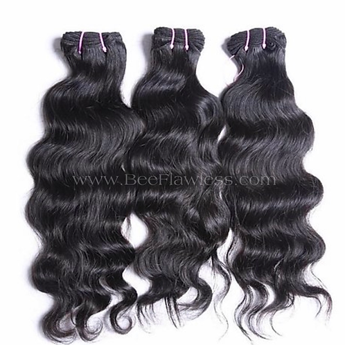 Bee Flawless Raw Indian Natural Wave (3 bundles/10.5 ounces)