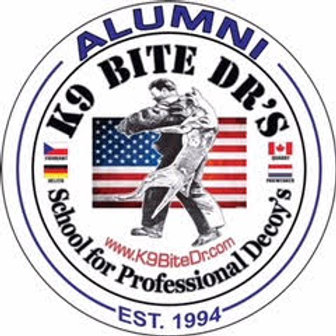 K9 BITE DR ALUMNI DECAL