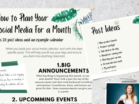 My Method for Planning Social Media for a Month