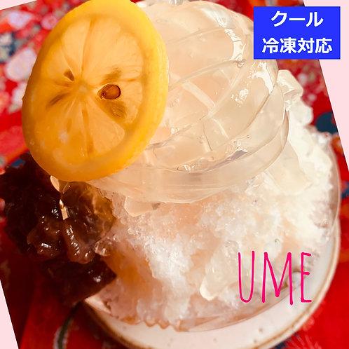 自家製くずきり和風蜜かき氷【梅】