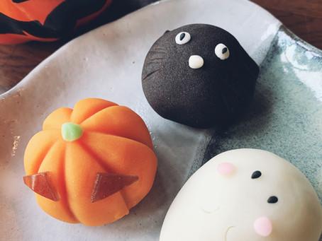 可愛いいハロウィン上生菓子
