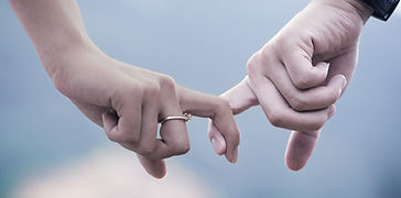Hands couple tenant