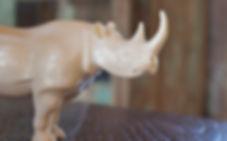 Porcelain Rhino decor