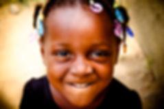 African child on community visit