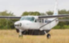 Federal Air plane landing on airstrip