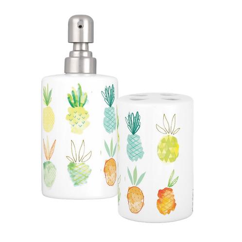 Set porte brosses à dents et distributeur de savon