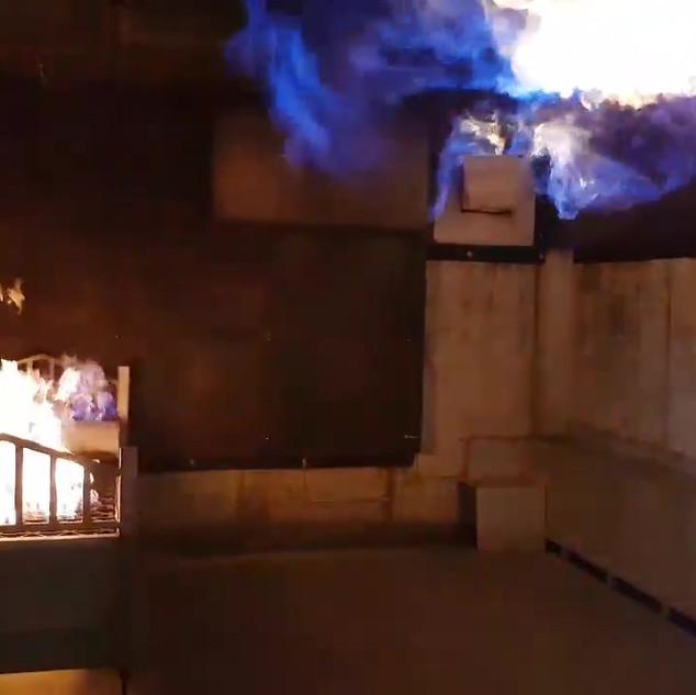 Chambre en flames