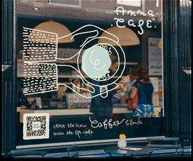 QR Code Vitrine café