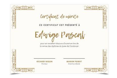 Certificat /  Diplôme