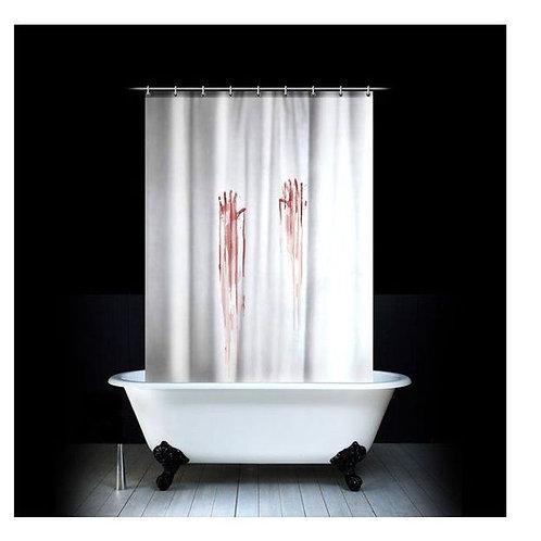 Rideau de douche sanglant