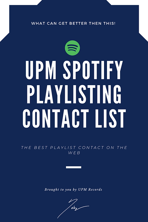 Unlimited Spotify Playlisting Contact list