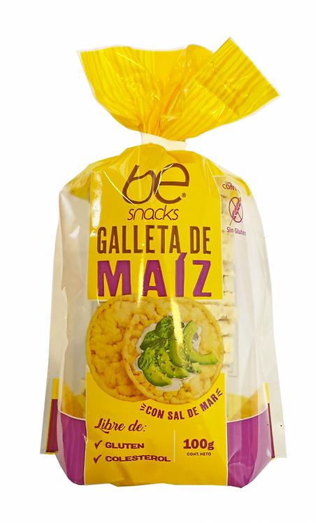 12 unidades Galleta de maíz con sal de mar 100 g.