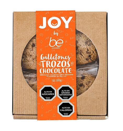 8 unidades Galletones Joy - Trozos de Chocolate