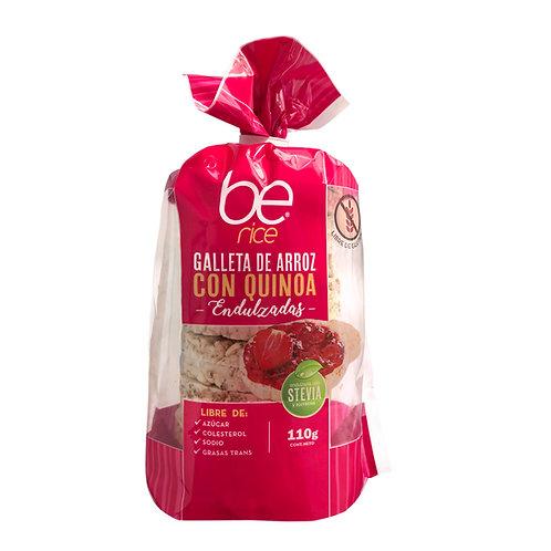 12 unidades Galletas de arroz con quinoa endulzadas con stevia (110 g.)