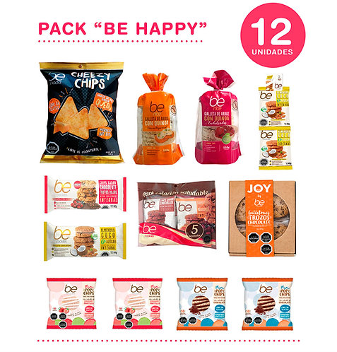 "12 unidades Pack ""Be Happy"""