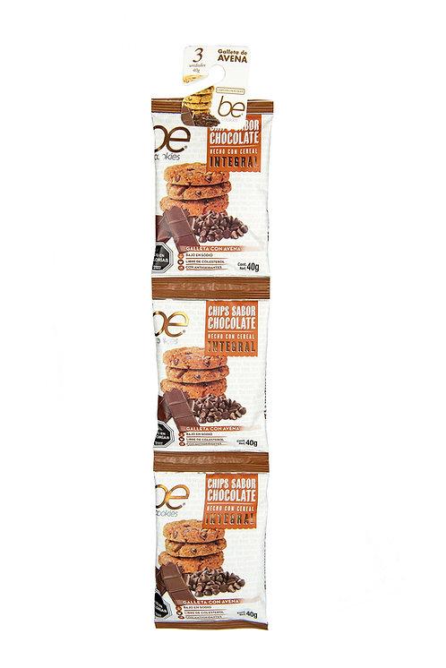 20 unidades Tira Galletón chips chocolate (3 X 40 g.)