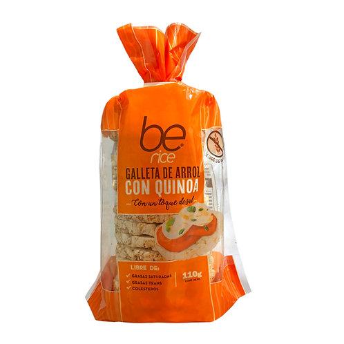12 unidades Galletas de arroz con quinoa con toque de sal (110 g.)