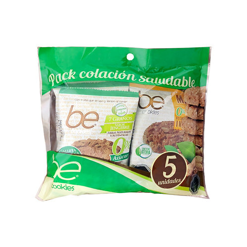 12 Packs colación 5 galletones 0% azúcar (40 g.)