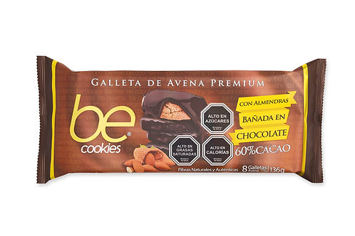 18 unidades Galletas de avena Almendras bañadas en chocolate (136 g.)