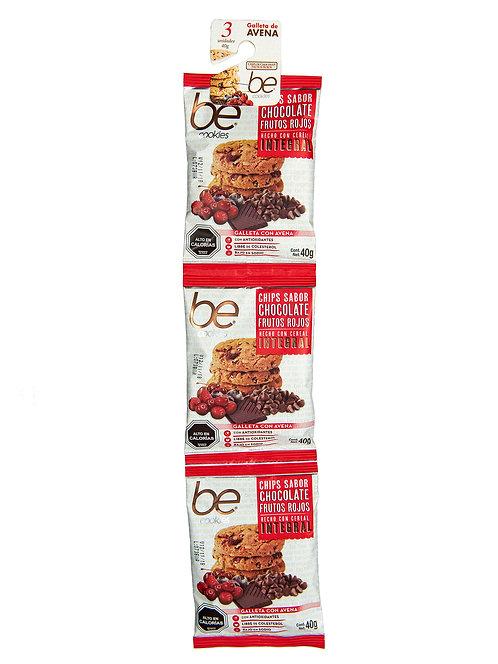 20 unidades Tira Galletón frutos rojos chocolate (3 X 40 g.)