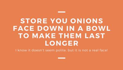 Avoiding Food Waste - Onions
