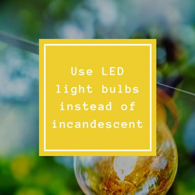 Use LED Light Bulbs instead of Incandescent