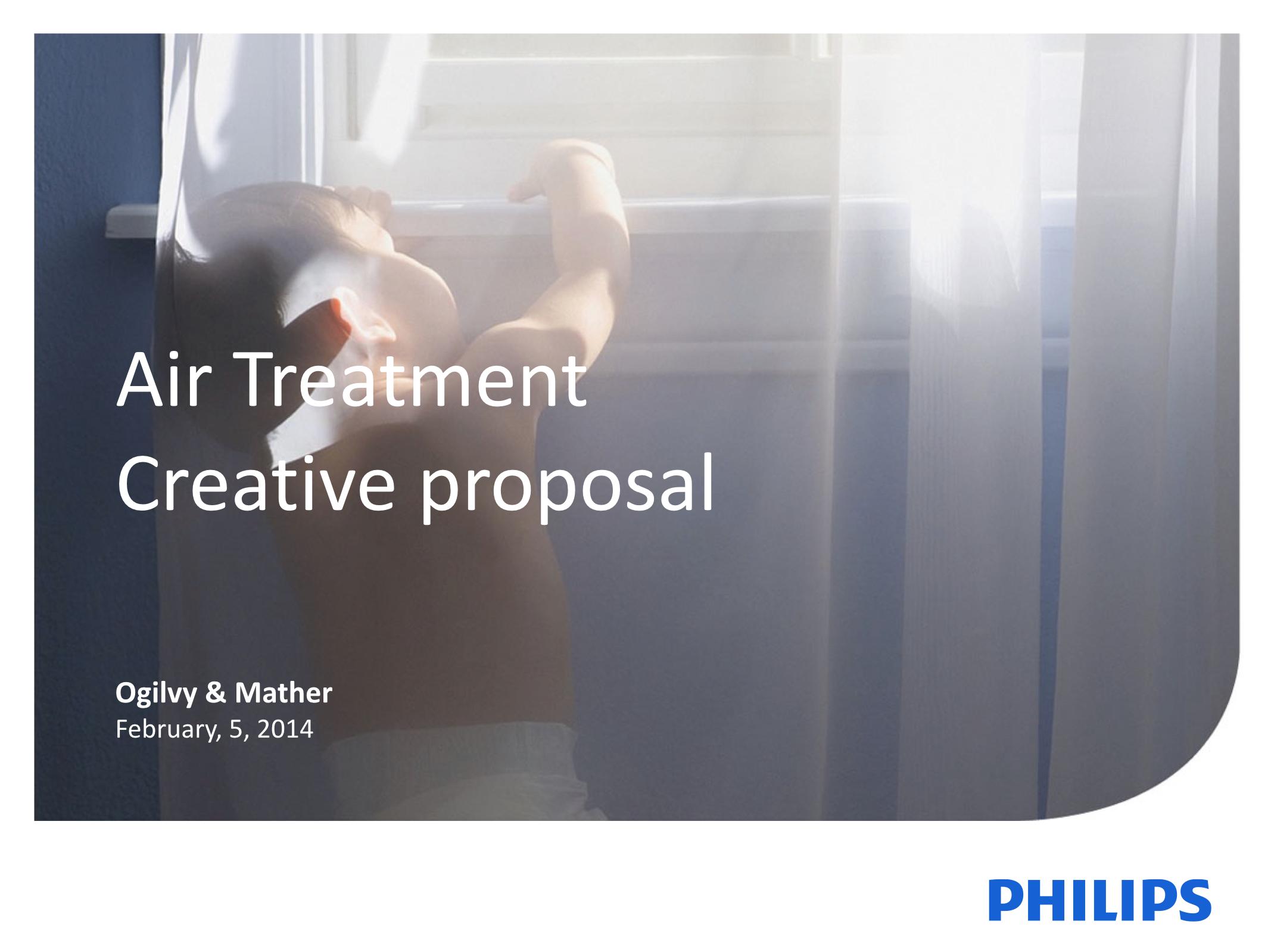 Philips Air Treatment. Creative proposal.