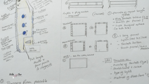 Dressing Room Interior Design sketch