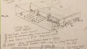 Interior Sketch: Conference Suite 2