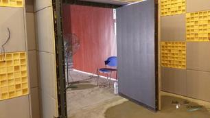 Construction:  Floor Level & LED Acoustic doors