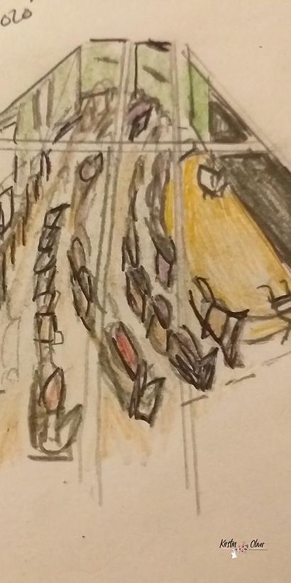 Sketch of the Auditorium, designed by Kirstin Oliver Arts Consultancy Ltd