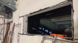 Control Room Window install