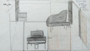 Sketch: Steinway Suite. Concept 1