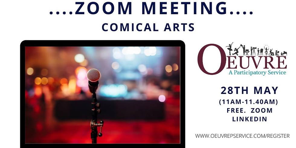 ZOOM MEETING:  Comic Arts. Friday 7th May. 11am.